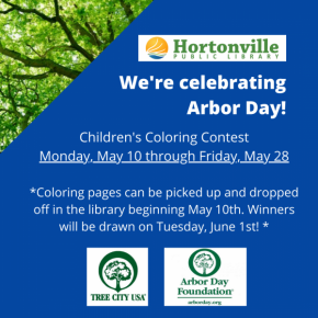 Arbor Day Children's Coloring Contest- May 10 to May 28