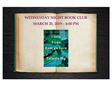 Wednesday Night Book Club- March 2019 | Hortonville Public